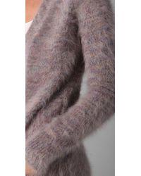 Theory - Purple Scotia Angora-blend Cardigan - Lyst