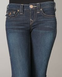 True Religion Blue Becky Rec Hardware Midnight Rage Jeans