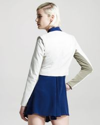 Vena Cava | White Short Leather Jacket | Lyst