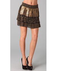 Alice + Olivia | Metallic Petra Ruffle Skirt | Lyst