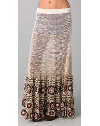 Free People | Brown Carnival Crochet Maxi | Lyst