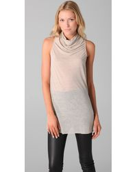 Helmut Lang - Natural Open V Back Sleeveless Sweater - Lyst