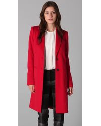 JOSEPH | Red Man Wool Coat | Lyst
