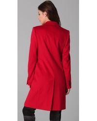 JOSEPH | Red Man Wool Coat | Lyst