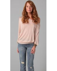 Lanston | Pink Boyfriend Off The Shoulder Top | Lyst