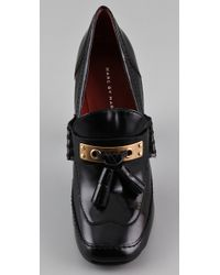 Marc By Marc Jacobs - Black Metal Loafer Pumps - Lyst