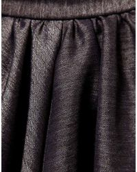 Miss Sixty - Gray Metallic Flippy Skirt - Lyst