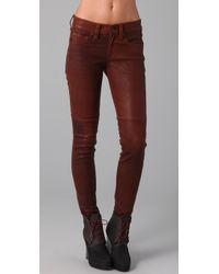 Rag & Bone | Brown Skinny Leather Pants | Lyst