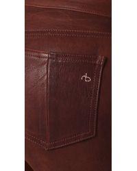 Rag & Bone | Brown Skinny Leather Pants | Lyst