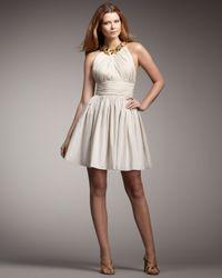Robert Rodriguez - Natural Mackenzie Gathered Dress - Lyst