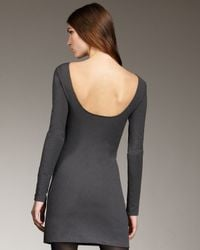Theyskens' Theory - Gray Open-back Long-sleeve Dress - Lyst