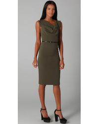 Black Halo | Green Jackie O Belted Dress | Lyst
