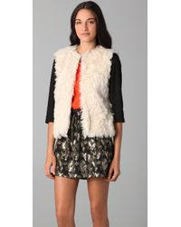 Gryphon | Natural Faux Fur Jacket | Lyst