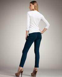 J Brand - 811 Mid-rise Skinny Twill Jeans, Riviera Blue - Lyst