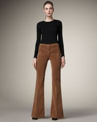 J Brand | Brown Ali Wide-leg Corduroy Pants, Toffee | Lyst
