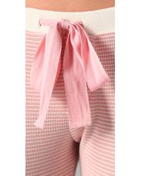 Juicy Couture - Pink Striped Thermal Leggings - Lyst