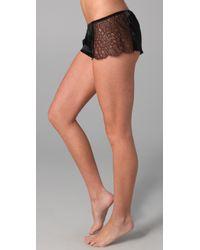La Fee Verte - Black Web Lace Shorts - Lyst