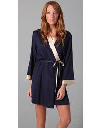 La Fee Verte | Blue Silk Robe | Lyst