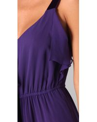 Rebecca Taylor | Purple True Love Gown with Ruffle | Lyst