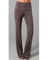 Rebecca Taylor | Multicolor Leopard Print Flare Pants | Lyst