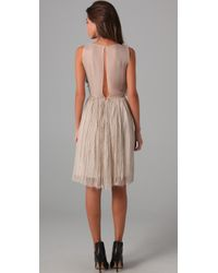 Robert Rodriguez - Black Pleated Chiffon Bow Dress - Lyst