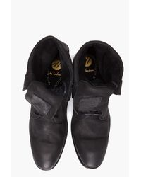 H by Hudson | Black Jimi Fold Over Boots for Men | Lyst