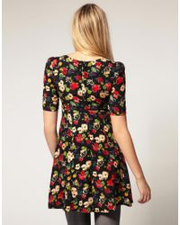 ASOS Collection - Black Asos Maternity Dress in East Village Poppy Print - Lyst