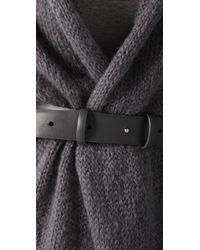 Doo. Ri - Gray Cardigan Coat with Belt - Lyst