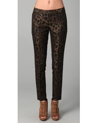 Elie Tahari | Hailey Metallic Pants | Lyst