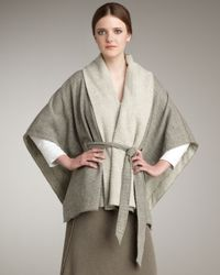 James Perse | Gray Oversized Blanket Cardigan | Lyst