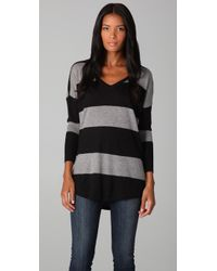 Joie | Gray Cheyenne Striped Sweater | Lyst