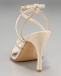 Stuart Weitzman | Natural Embellished Strappy Sandal | Lyst