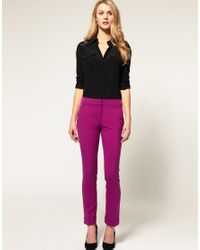 ASOS | Purple Slim Trousers With Jet Pocket | Lyst