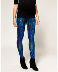ASOS Collection - Blue Asos Maternity Ikat Print Legging - Lyst