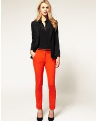 ASOS - Orange Slim Trousers With Jet Pocket - Lyst