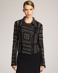 Christopher Kane | Gray Cashmere Crochet Jacket | Lyst