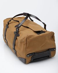 Filson - Brown Large Wheeled Duffle Bag for Men - Lyst