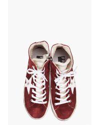 Golden Goose Deluxe Brand | Purple The Francy Bordeaux Suede Sneakers for Men | Lyst