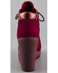Marc By Marc Jacobs | Red Wedge Sneaker with Impala | Lyst