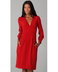 Marc By Marc Jacobs | Red Michaela Silk Dress | Lyst