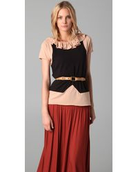 Marc By Marc Jacobs | Brown Fosse Colorblock Jersey Top | Lyst