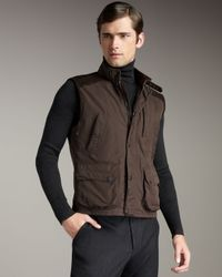 Ralph Lauren Black Label | Brown Modern Taffeta Vest for Men | Lyst