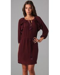 Rebecca Taylor - Purple Piped Long Sleeve Dress - Lyst