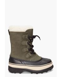 Sorel | Green Womens Caribou Boot | Lyst