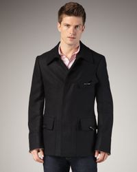 Alexander McQueen | Black Cashmere and Wool Chevron Jacket for Men | Lyst