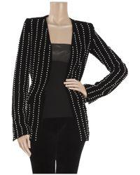 Alexander Wang - Black Pearl-embellished Velvet Jacket - Lyst