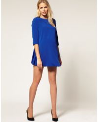 ASOS Collection - Blue Asos Maternity Button Back 60s Swing Dress - Lyst