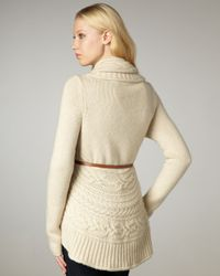 Autumn Cashmere | White Draped Cable-knit Cardigan | Lyst