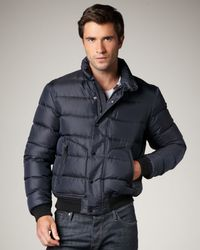 Burberry Brit | Blue Puffer Jacket, Navy for Men | Lyst