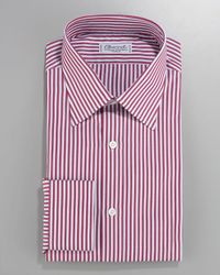 Charvet | Striped Dress Shirt, Red/white for Men | Lyst